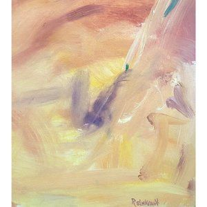 "Vintage Wall Art - ""Wellfleet"" Vintage 70s Original Abstract Painting"
